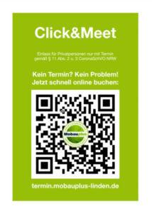 Click & Meet Beispiel Plakat QR-Code
